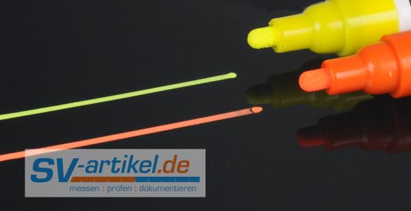2 Kreidemarker in gelb und orange